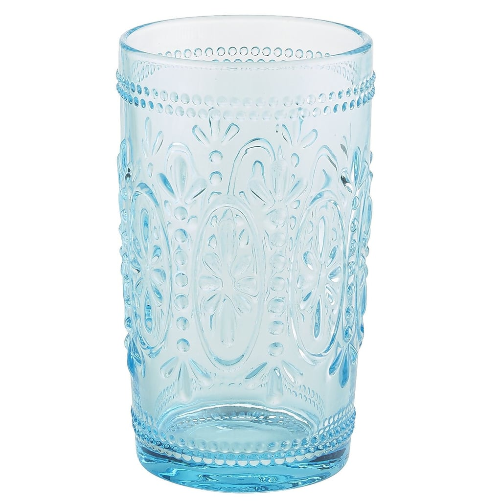 Blue Pressed Glass Tumbler
