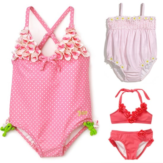 6 Pretty Pink Floral Swimsuits For Lil Girls