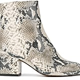 Robert Clergerie Snakeskin Ankle Boots