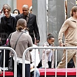 Maddox, Pax, Zahara, and Shiloh Make an Appearance at the Kung Fu Panda 2 Premiere With Brad and Angelina!