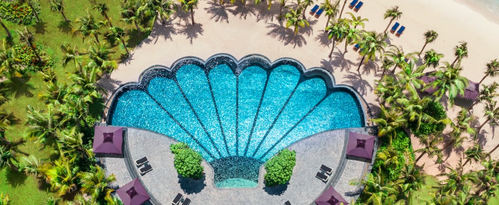 Mermaid Shell-Shaped Hotel Swimming Pool
