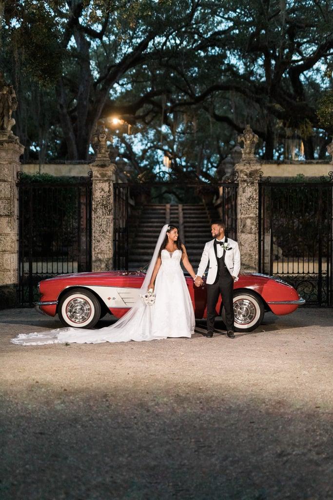 Black and White Garden Wedding in Miami