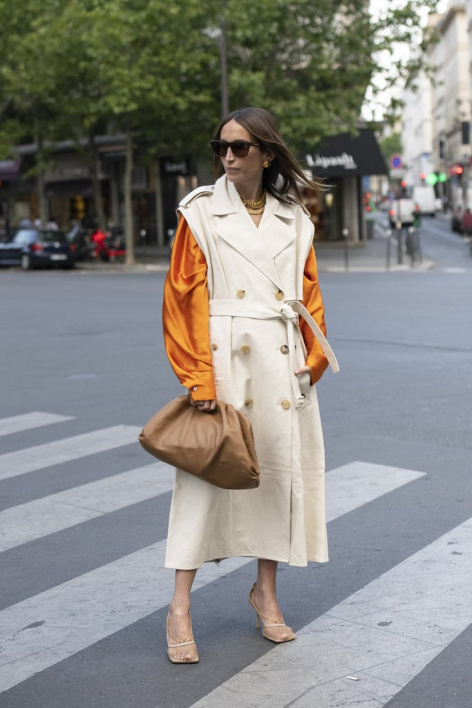 Carry a Bottega bag and style it with the mesh heels, too!