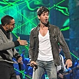 Ludacris performed with Enrique Iglesias onstage.