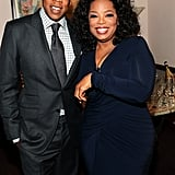 Jay-Z met up with Oprah Winfrey at Beyoncé Knowles's premiere.