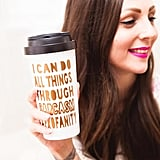 I Can Do All Things Through Sarcasm & Profanity Travel Mug