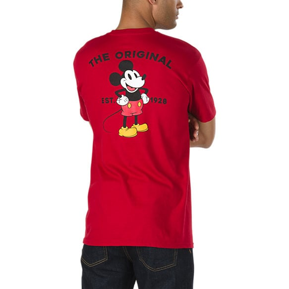 Disney x Vans Mickey Mouse's 90th Classic T-Shirt in Cardinal