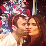 Alessandra Ambrosio showed some holiday love.