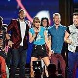 "Taylor Swift sang ""22"" at the Billboard Music Awards."