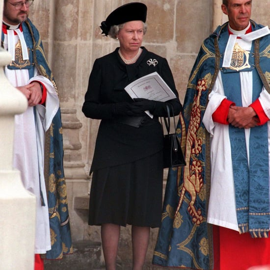 Queen Elizabeth II at Princess Diana's Funeral