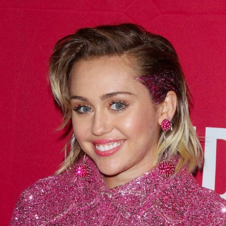 Miley Cyrus With Glitter Roots Popsugar Beauty
