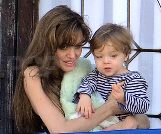 Slide Photo of Angelina Jolie and Knox in Venice