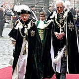 Queen Elizabeth processed at the Thistle Ceremony in Scotland.