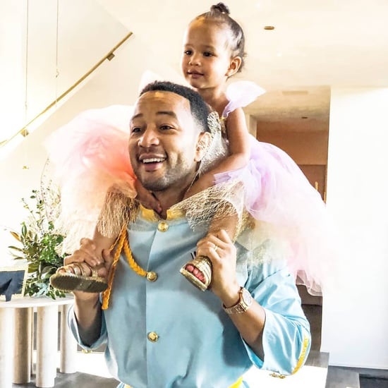 John Legend Dresses as Prince Charming With Luna Stephens