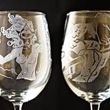 An Acid-Etched Wine Glass Set