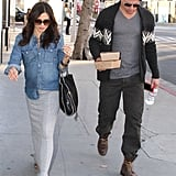 Jenna Dewan had lunch with husband Channing Tatum in LA.