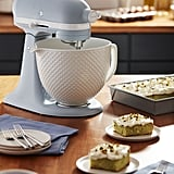 KitchenAid Stand Mixer With White Ceramic Bowl