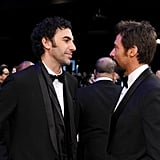 Les Mis's Sacha Baron Cohen and Hugh Jackman wore matching bow ties.