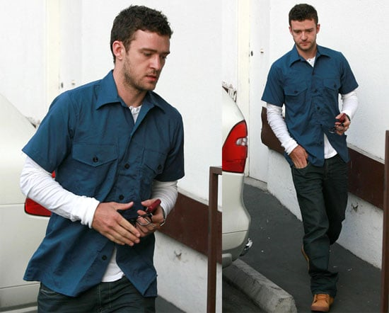 Photos of Justin Timberlake Heading Into an LA Recording Studio