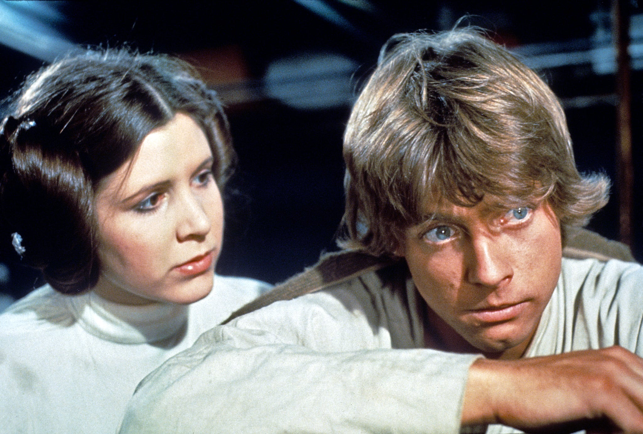 STAR WARS, (aka STAR WARS: EPISODE IV - A NEW HOPE), Carrie Fisher, Mark Hamill, 1977