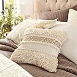 Boho Stripe Square Natural Pillow