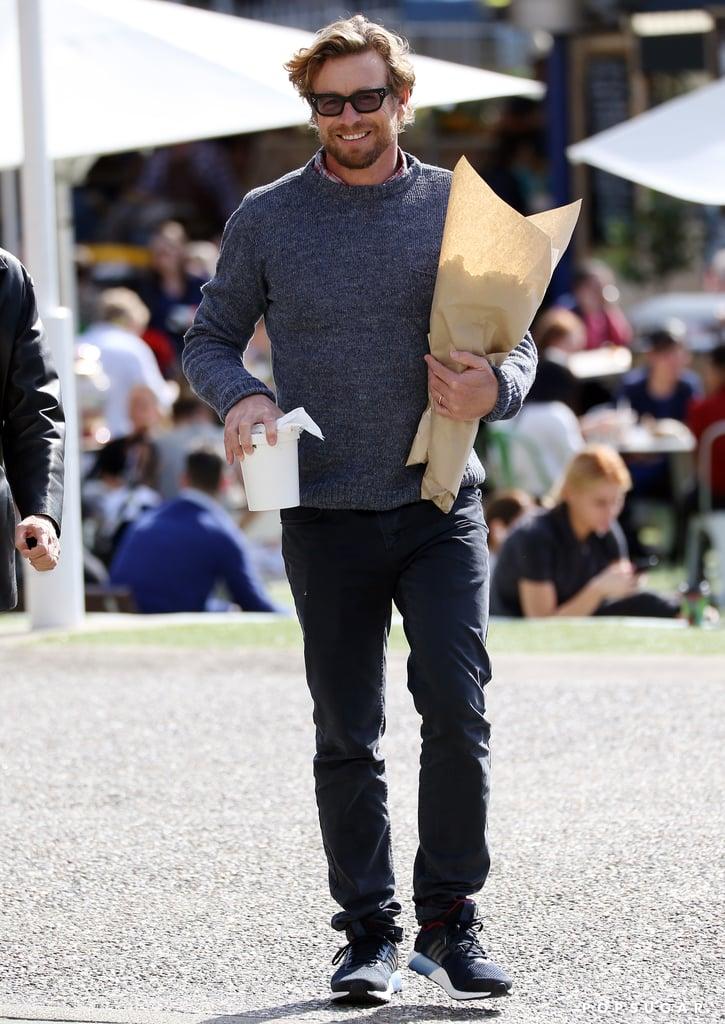 Simon Baker Buying Flowers in Sydney August 2016