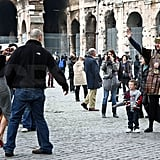 The Beckhams in Rome