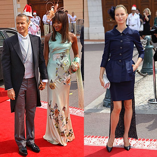 Naomi Campbell and Karolina Kurkova at the Monaco Wedding