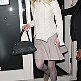 Gwyneth Paltrow left dinner at London's Petite Maison.