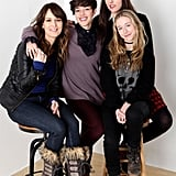 Rosemarie DeWitt, Olivia Thirlby, India Ennenga, and Ry Russo-Young took a cute shot while promoting their film Nobody Walks.