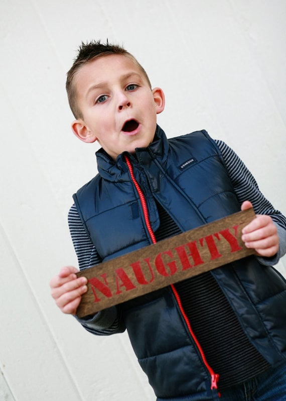 Christmas Naughty Sign