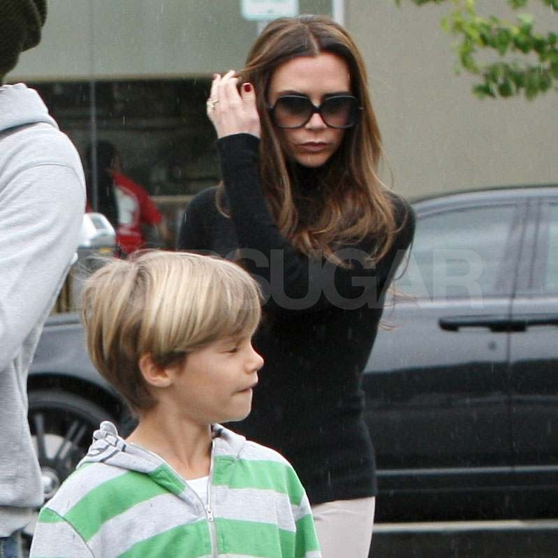Victoria Beckham wore a turtleneck.