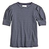 POPSUGAR Stripe Puff-Sleeve Top