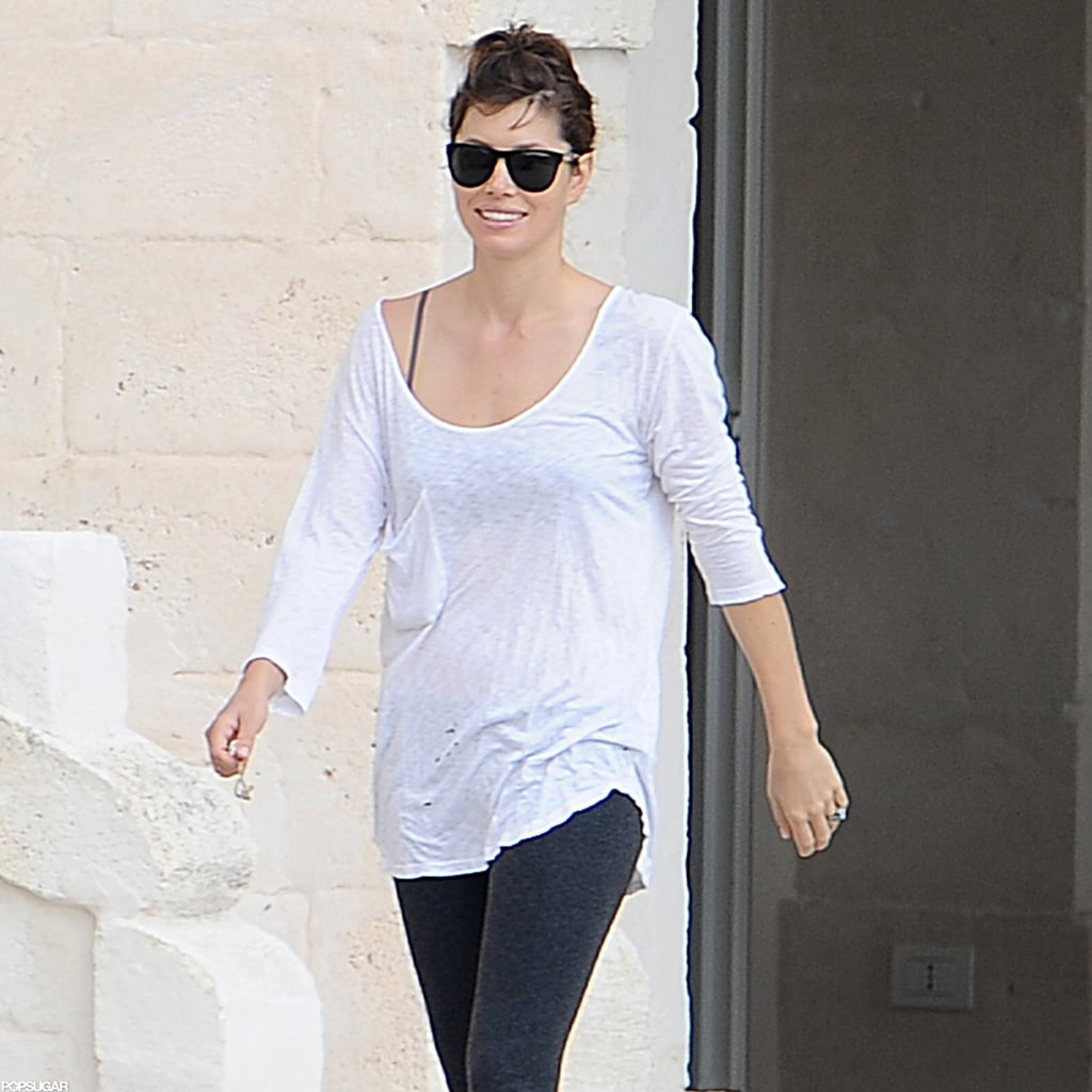 "Jessica Biel was seen taking a walk along the grounds of the Borgo Egnazia Resort in Fasano, Italy, over the weekend. She had a big smile on her face thanks to Friday's big event — Jessica married Justin Timberlake Friday after flying in their nearest and dearest on a private jet! Jessica and Justin confirmed the happy news Friday with a statement that read ""it's great to be married."" Justin spoke about their nuptials further, saying, ""It was magical. It was an unforgettable evening."" Jessica weighed in, too, dubbing their special day ""a fantasy."" Photos from their ceremony and reception will debut in this week's edition of People, online Wednesday."