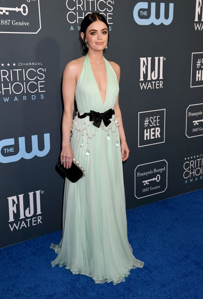 Lucy Hale's Dreamy Hair and Makeup at Critics' Choice Awards
