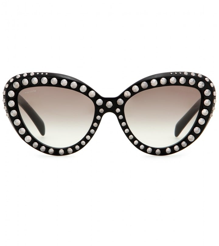 Prada Studded Cat-Eye Sunglasses ($579)