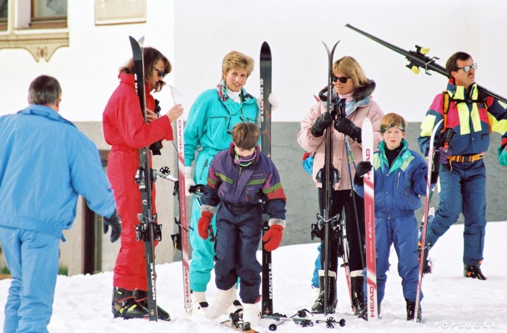 In March 1994, Princess Diana took Prince William and Prince Harry on  a skiing trip in Lech, Austria.