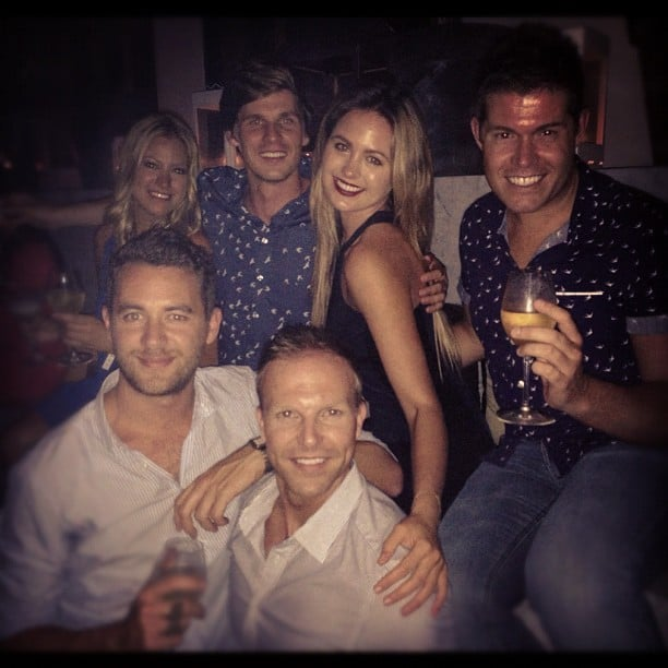 Jesinta Campbell was surrounded by some of her favourite men. Source: Instagram user jesinta_campbell