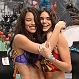 Pictured: Adriana Lima and Kendall Jenner