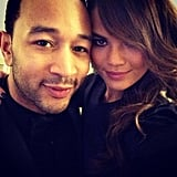 John Legend and Chrissy Teigen took a photo before heading to the ballet. Source: Instagram user chrissy_teigen