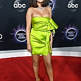 Selena Gomez's Lime Green Versace Dress at the AMAs
