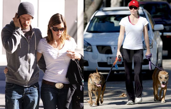 Jessica Biel Walking Her Dogs
