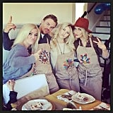 Derek and Julianne Hough cooked dinner with their family. Source: Instagram user juleshough