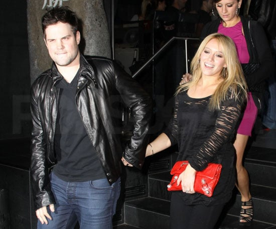 Slide Photo of Hilary Duff's Engagement Ring and Mike Comrie