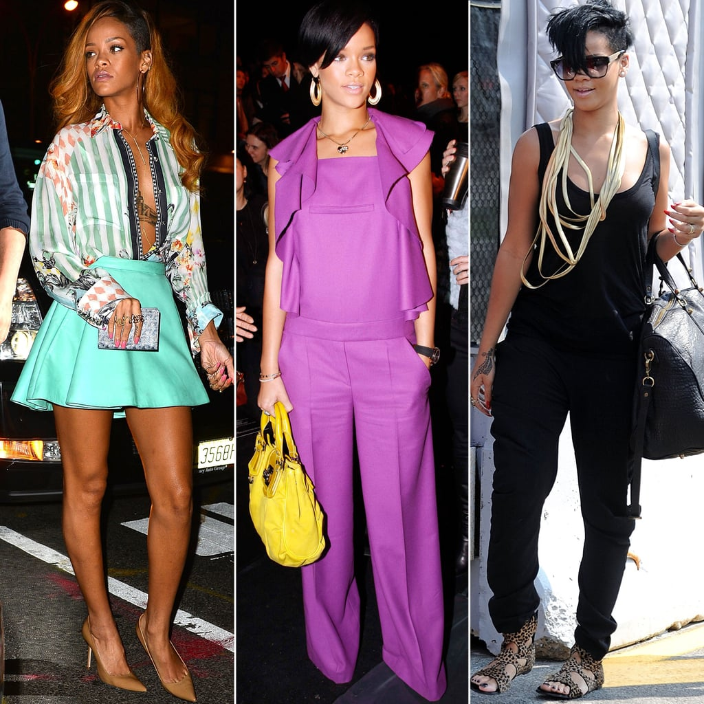 Sensational Rihannas Best Street Style Popsugar Fashion Hairstyle Inspiration Daily Dogsangcom
