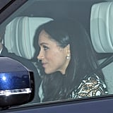 Meghan Markle's Lace Self-Portrait Dress at Christmas Lunch