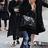 Ashley Olsen and Mary-Kate Olsen headed to a car after their meeting.