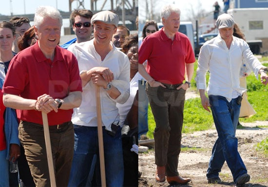 Brad Pitt and Bill Clinton in New Orleans Lower 9th Ward