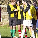 Prince Harry chatted with James Middleton during their match.