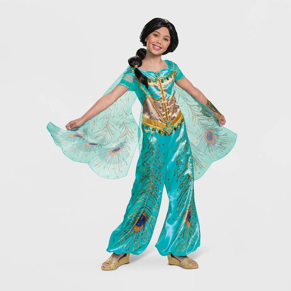 Girls Disney Princess Jasmine Teal Deluxe Halloween Costume Best